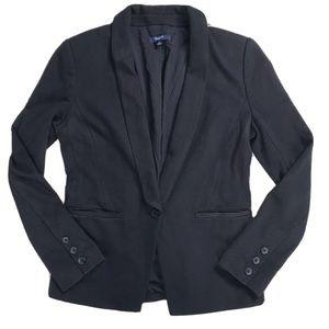 Madewell Black Cotton Knit Blazer Jacket